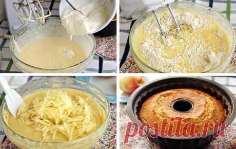 Яблочный кекс на сметане — Кулинарная страничка