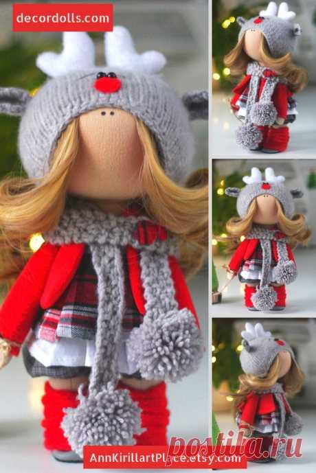 Winter Decoration Doll Handmade Deer Tilda Doll Christmas   Etsy