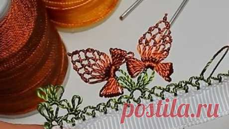 El encaje turco de aguja oyyasi (Oyasi). La lección № 15: la mariposa