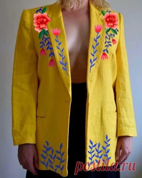 9 интересных работ вышивальщицы Сэм, которая дает вторую жизнь старым вещам   Вязание-блог   Яндекс Дзен