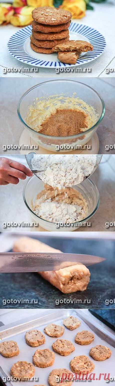 Печенье с белым шоколадом и грецкими орехами. Фото-рецепт / Готовим.РУ