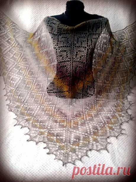 Pine Forest Shawl pattern by Anna Danilova