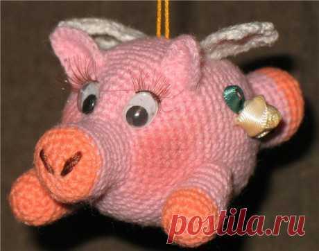 Вяжем символ 2019 года - 11 схем с описанием свинок вязаных крючком своими руками