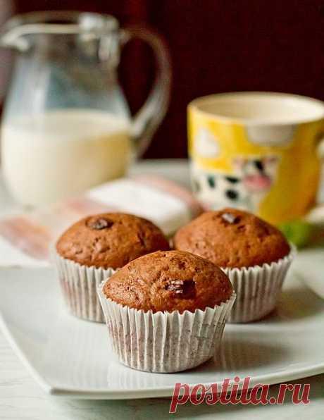Шоколадные маффины с шоколадной крошкой | Вкусный блог - рецепты под настроение