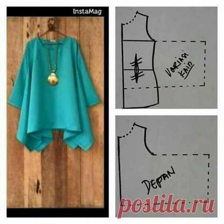 Блузка с углами Модная одежда и дизайн интерьера своими руками