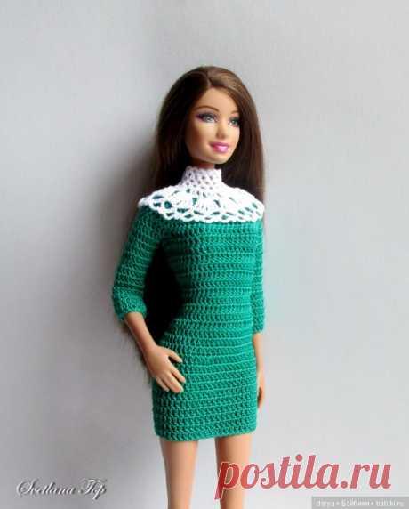 El vestido simple para Barbi por la descripción Svetlana Top \/ la Labor de punto para las muñecas \/ Beybiki. Las muñecas de la foto. La ropa para las muñecas