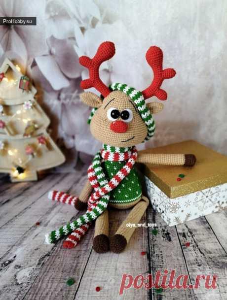 Олененок амигуруми / Вязание игрушек / ProHobby.su | Вязание игрушек спицами и крючком для начинающих, мастер классы, схемы вязания
