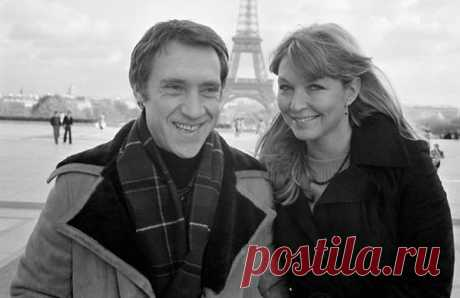 Владимир Высоцкий с Мариной Влади в Париже. Франция. 1977 г.