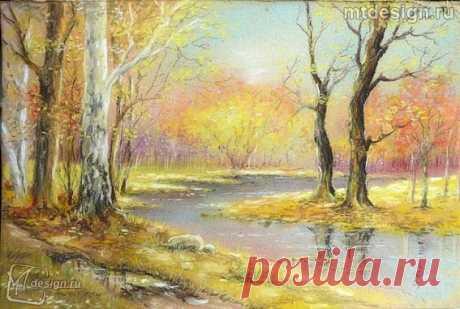 Осенняя пора пастелью  Пастель – один из интереснейших художественных материалов, который представляет собой особенные мелки для рисования.