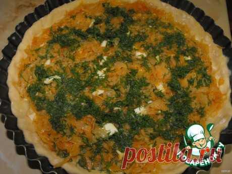 Открытый пирог с капустой и яйцами – кулинарный рецепт
