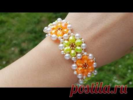 Браслет из бисера/Браслет из бусин/Как сделать браслет/Бисероплетение/Beaded bracelet/Diy/