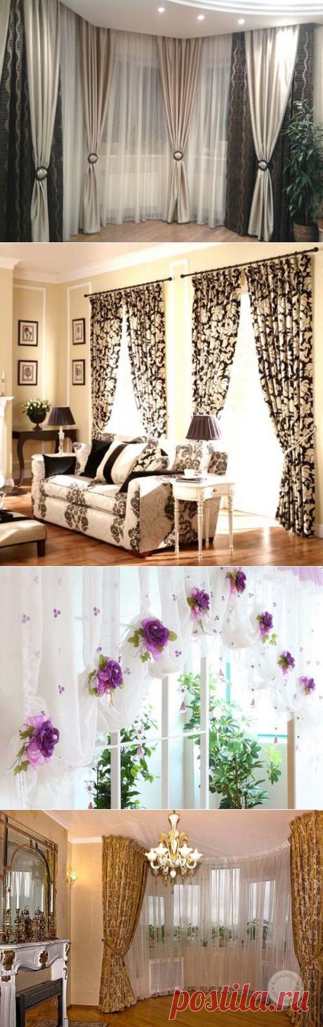 Как оформить шторы своими руками: в гостиной, в спальне, на кухне