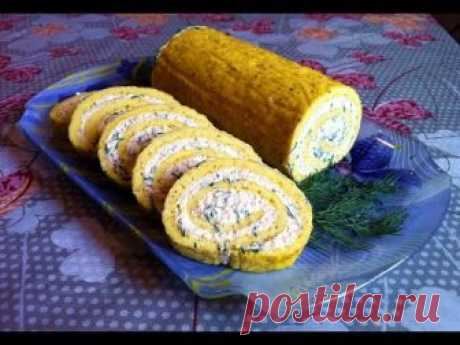 Рулет из Омлета с Плавленными Сырками / Roll The Omelet / Простой Рецепт (Очень Вкусно и Быстро) Подробный пошаговый видео рецепт очень вкусной холодной заку...