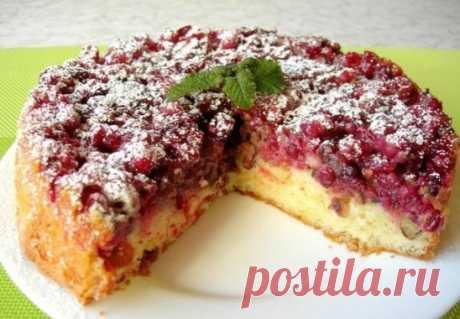 Бостонский клюквенный пирог Бостонский пирог с клюквой - один из самых вкуснейших пирогов, которые мне