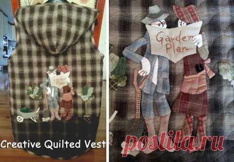 Creative Quilted Vest. Стеганный жилет  ~ DIY Tutorial Ideas!