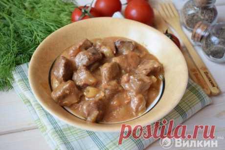 Гуляш из телятины с подливкой - рецепт с фото пошагово