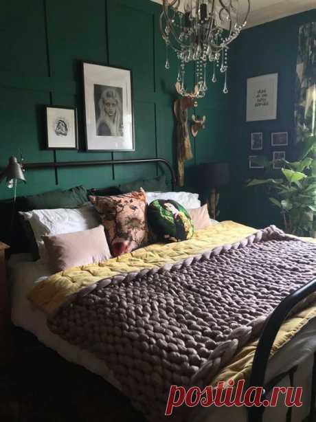 Спальня в зеленом цвете: 25 идей дизайна интерьера ~ ALL-DEKOR