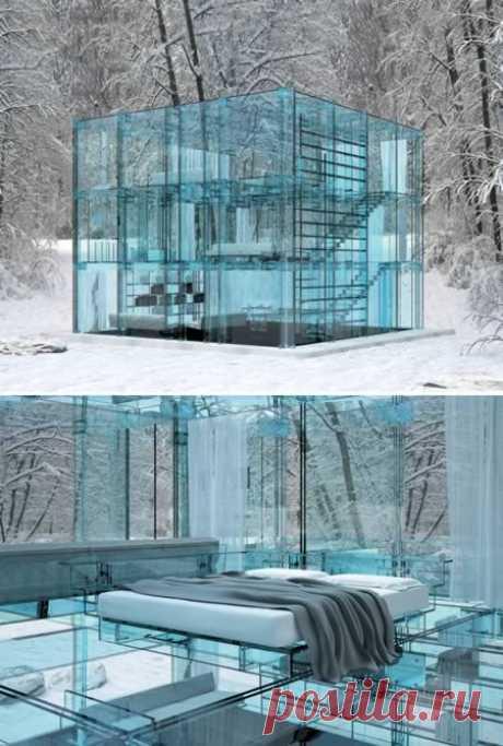 Удивительные дома из стекла