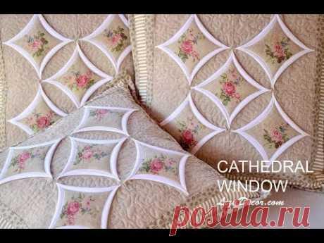 Лоскутное учебник Cathedral Window - Храмовые окна LizaDecor