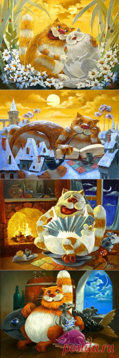 Drawn cats of Anton Gortsevich