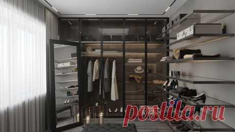 Проектирование и дизайн гардеробной комнаты