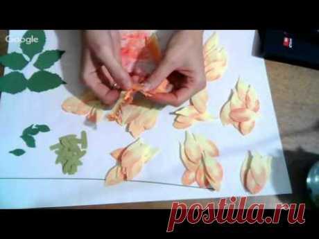 "Мастер-Класс ""Как создать цветок георгина из фоамирана"
