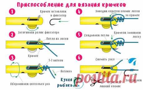 Приспособление для быстрого вязания крючков | Кухня рыбака | Яндекс Дзен