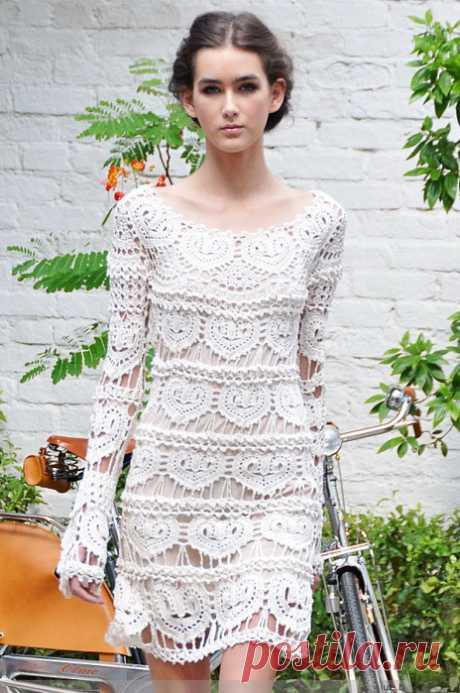 Красивое, связаное крючком платье от Ванессы Монторо