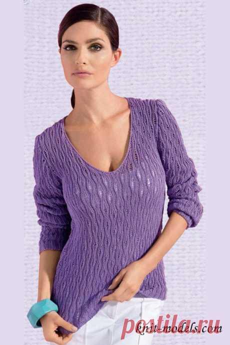 El pulóver con el recorte V-figurado
