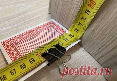 Как делать замеры во внутренних углах строительной рулеткой и игральной картой. Строительный лайфхак | Штуки из труб | Пульс Mail.ru Очень простой и практичный способ.