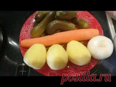 Польский огуречный суп или обед вместе с ICook