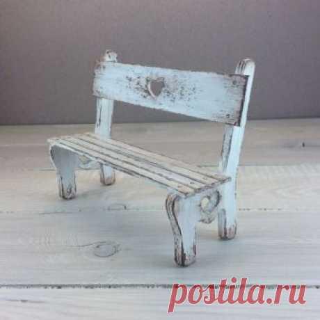 Создаем скамейку для кукол – Ярмарка Мастеров