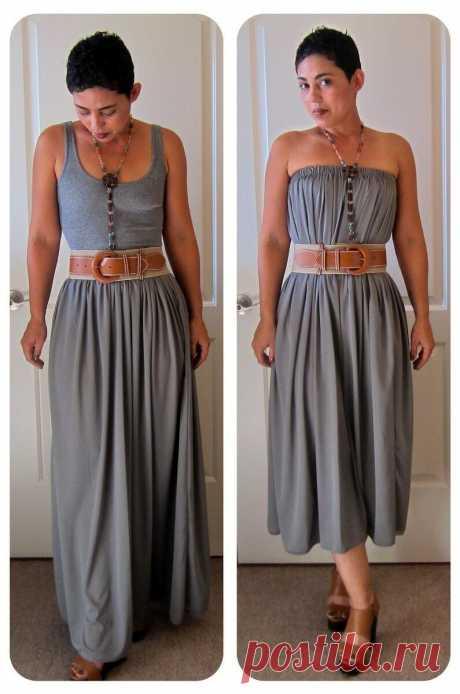 Как из юбки сделать сарафан, платье, блузку или другую юбку. 6 идей обновления вещей. | Провинциалка в теме | Яндекс Дзен