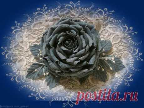 Роза из ткани своими руками /1 часть/ Мастер класс