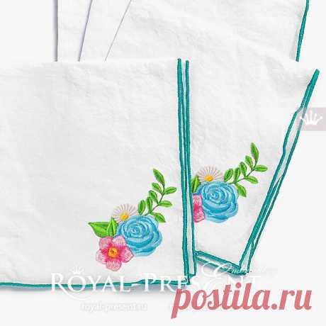 Дизайн машинной вышивки Маленький букетик цветов