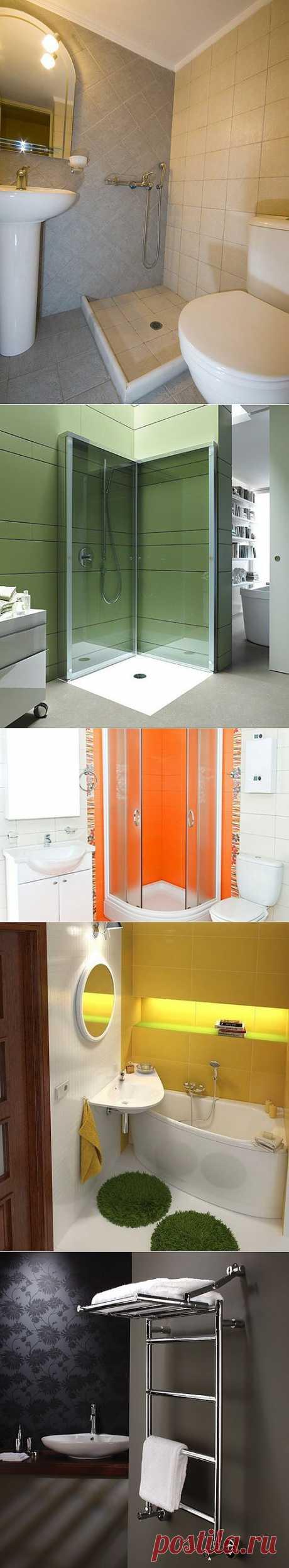 Как сделать комфортной маленькую ванную комнату | Твой Ремонт!!!