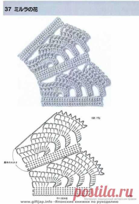 Японский журнальчик.Расширение полотна и узоры для прямого вязания