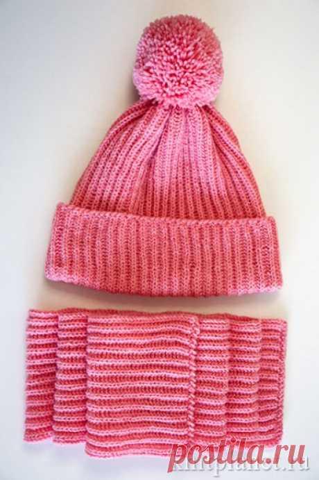 Как связать детскую шапку и шарф спицами. Подробный мастер-класс по вязанию с фото. | Планета Вязания