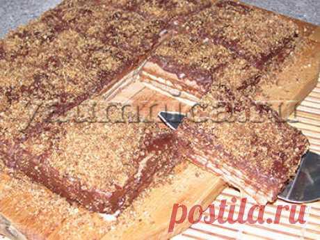 Быстрый вафельный торт к чаю – пошаговый фото рецепт