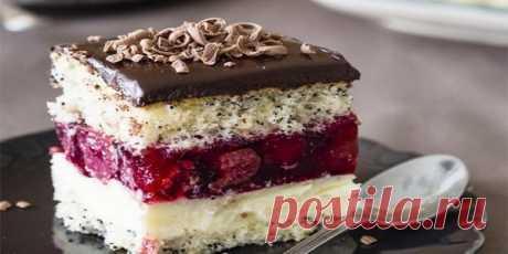 Торт «Вишневая фантазия» | Вкусные рецепты