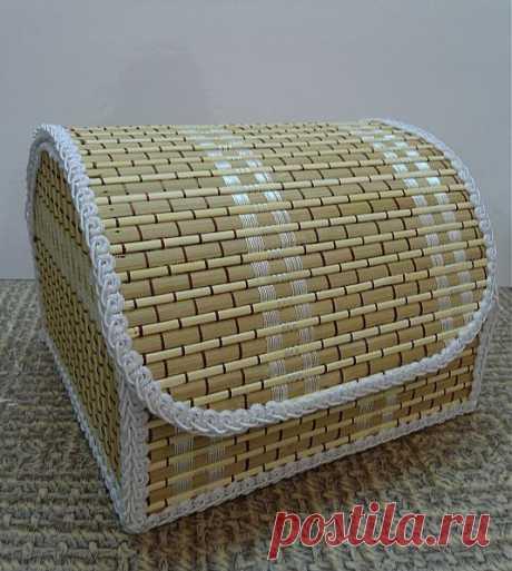 (+1) тема - Шкатулка из бамбукового коврика | СВОИМИ РУКАМИ
