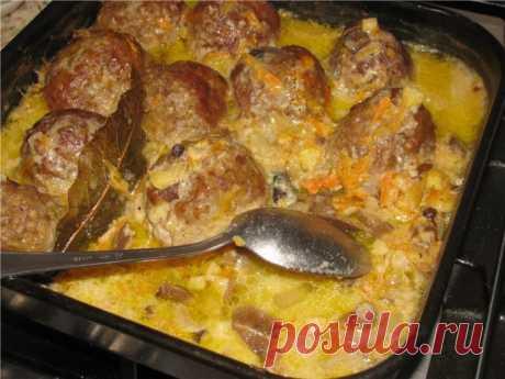 Тефтели в духовке с подливой — любимое блюдо всех детей и взрослых!