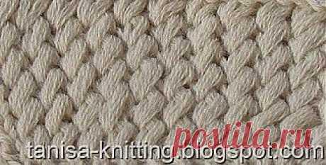 Узоры вязания: Косые петли на резинке