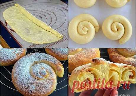 """Испанские булочки """"Ensaimadas"""" - пошаговый рецепт с фото. Автор рецепта Натали . - Cookpad"""