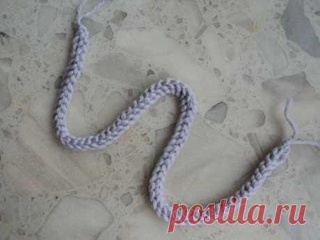 Объемный шнур крючком. Мастер-класс