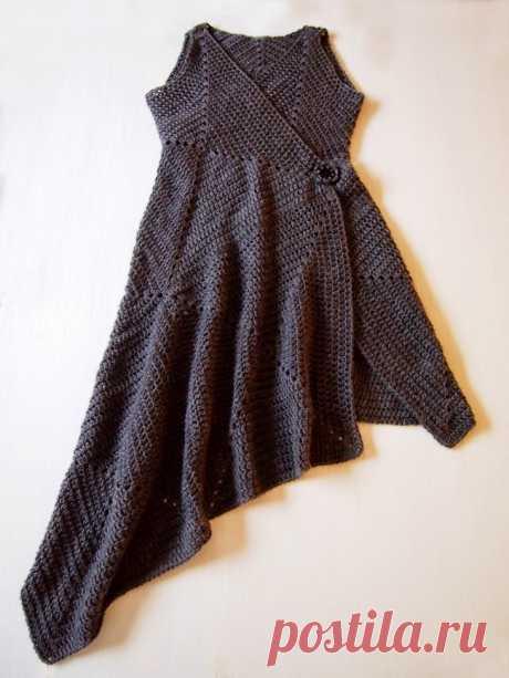 Платье-конструктор из вязаных квадратов (Diy) Модная одежда и дизайн интерьера своими руками
