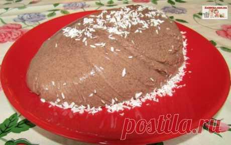 Шоколадно-сметанный десерт — Кулинарная книга