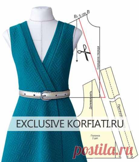 Выкройки трикотажных платьев с запахом от Анастасии Корфиати