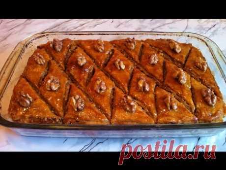 Пахлава с Грецким Орехом/Пахлава из Слоеного Теста/Baklava/Paxlava/Простой Рецепт(Ооочень Вкусно)