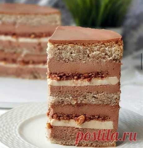 """Бисквитный торт """"Крепкий орешек"""" - Готовьте с Любовью"""